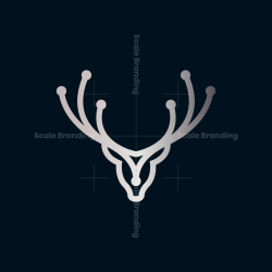 Tech Deer Head Logo