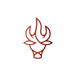 Flame Fire Bull Logo