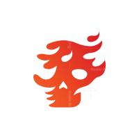 Flame Fire Skull Logo