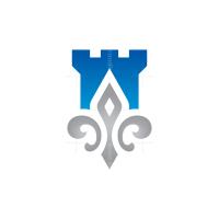 Fleur De Lis Fort Castle Logo
