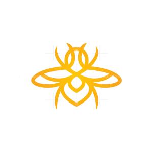 Flying Bee Logo Insect Bee Logo