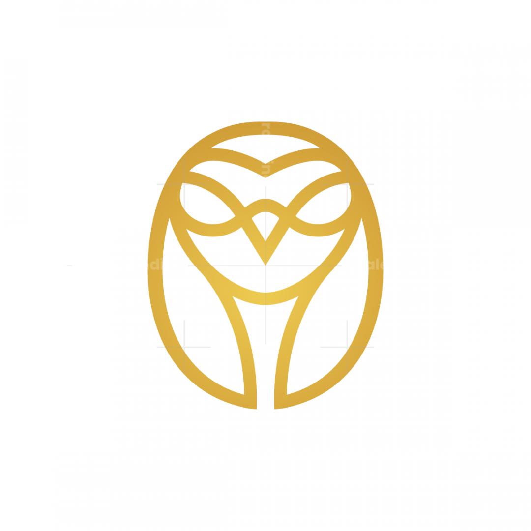 Golden Flying Owl Logo Owl Logo