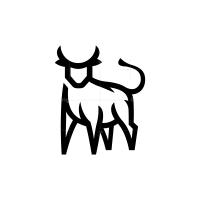 Front Black Bull Logo Taurus Logo