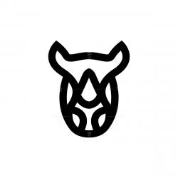 Black Rhino Head Logo