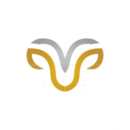 Gold Silver Ram Logo