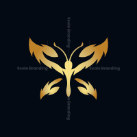 Golden Butterfly Logo
