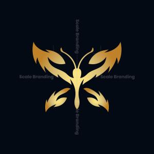 Golden Butterfly Logo