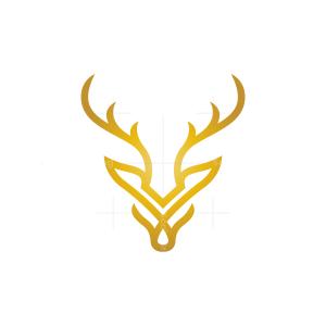 Golden Deer Head Logo