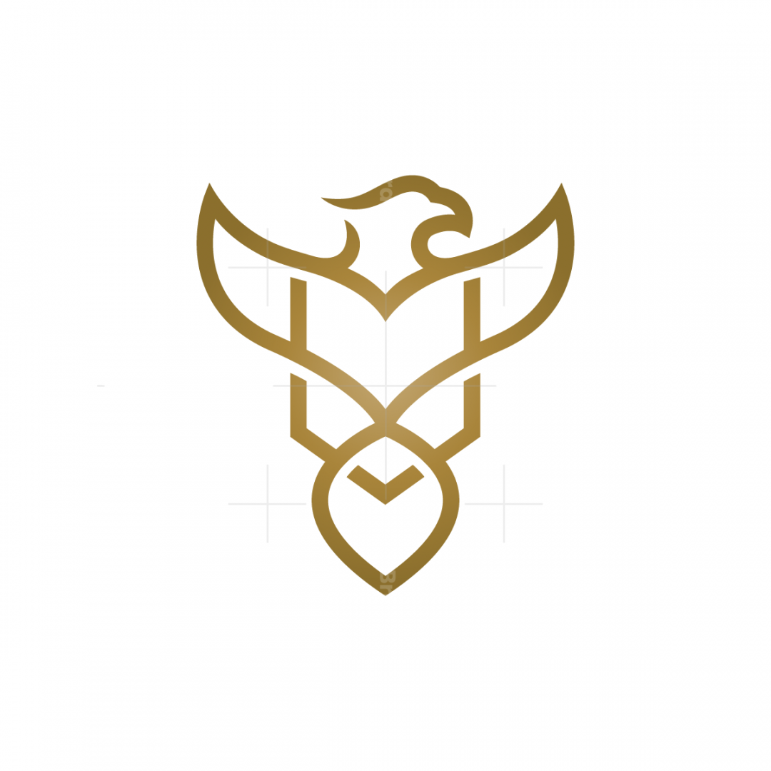 Golden Eagle Logo Shield Eagle Logo