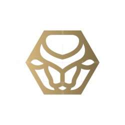 Hexagon Bull Logo