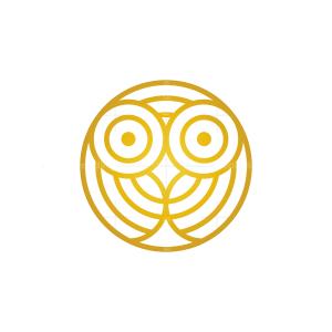 Hypnotic Golden Owl Logo