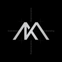 Km Monogram Logo Km Mk Logo