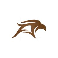 Letter A Eagle Logo