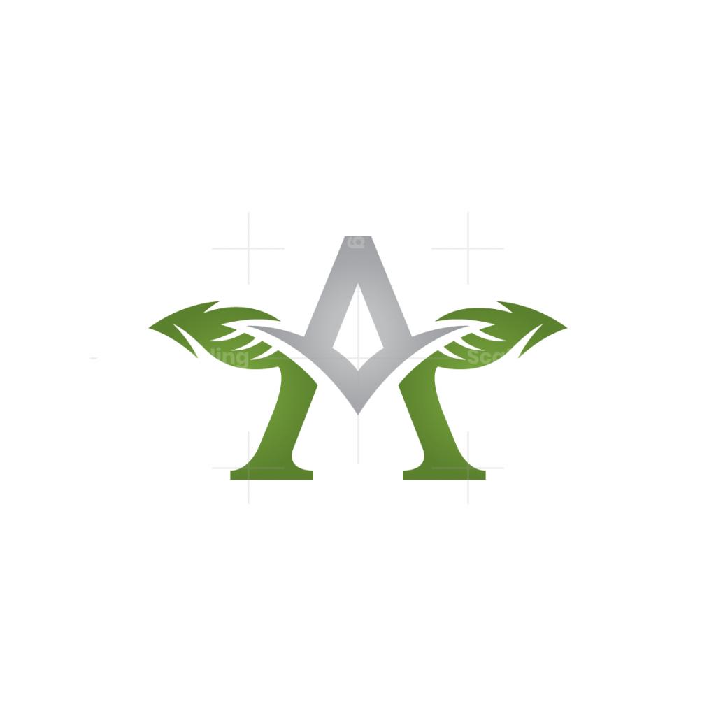 Letter A Leaves Logo
