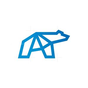 Letter A Polar Bear Logo