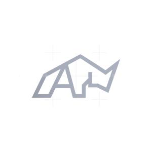 Letter A Rhino Logo