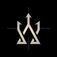 Letter A Trident Logo