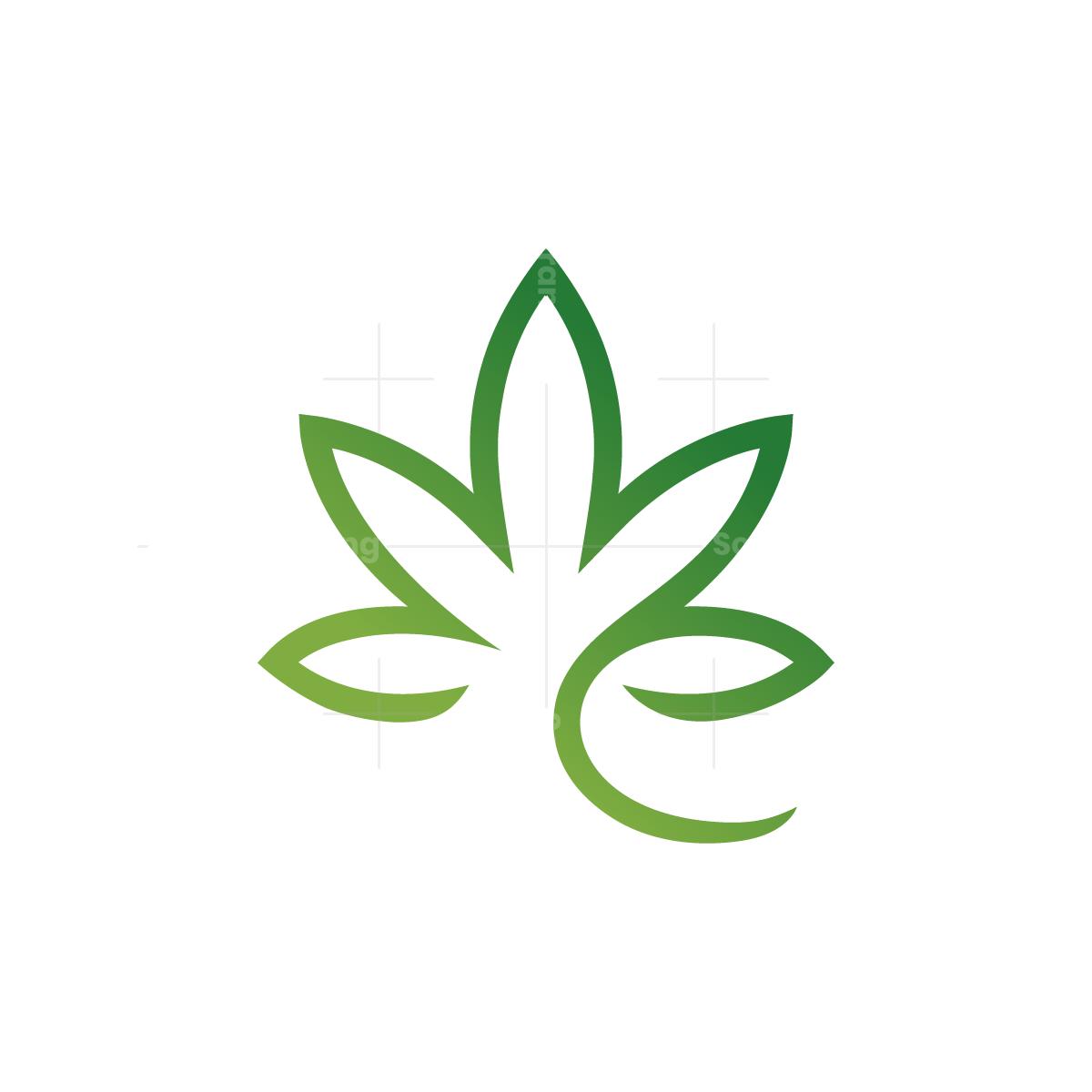 Letter e Cannabis Logo