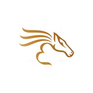 Letter E Equestrian Horse Logo