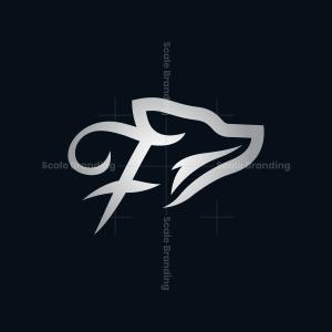 Letter F Silver Fox Logo