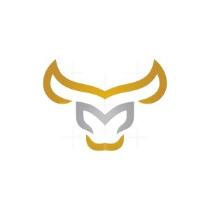 Letter M Bull Logo Matador Bull Logo