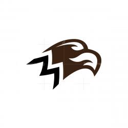 Letter M Eagle Logo