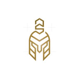 Letter S Spartan Helmet Logo