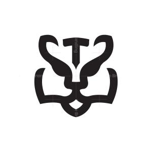 Letter T Tiger Logo