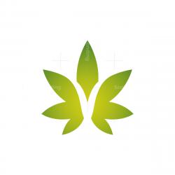 Letter V Cannabis Logo