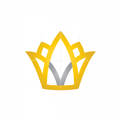 Letter V Crown Logo