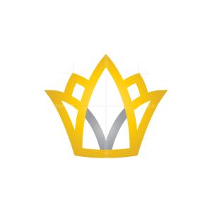 Letter V Crown Logo