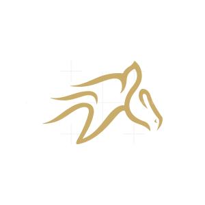 Letter V Horse Logo