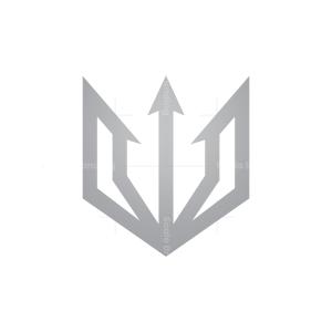 Letter V Trident Logo