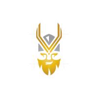 Letter V Viking Logo