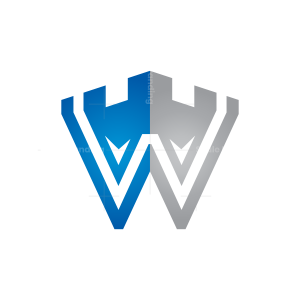 Letter W Fort Logo