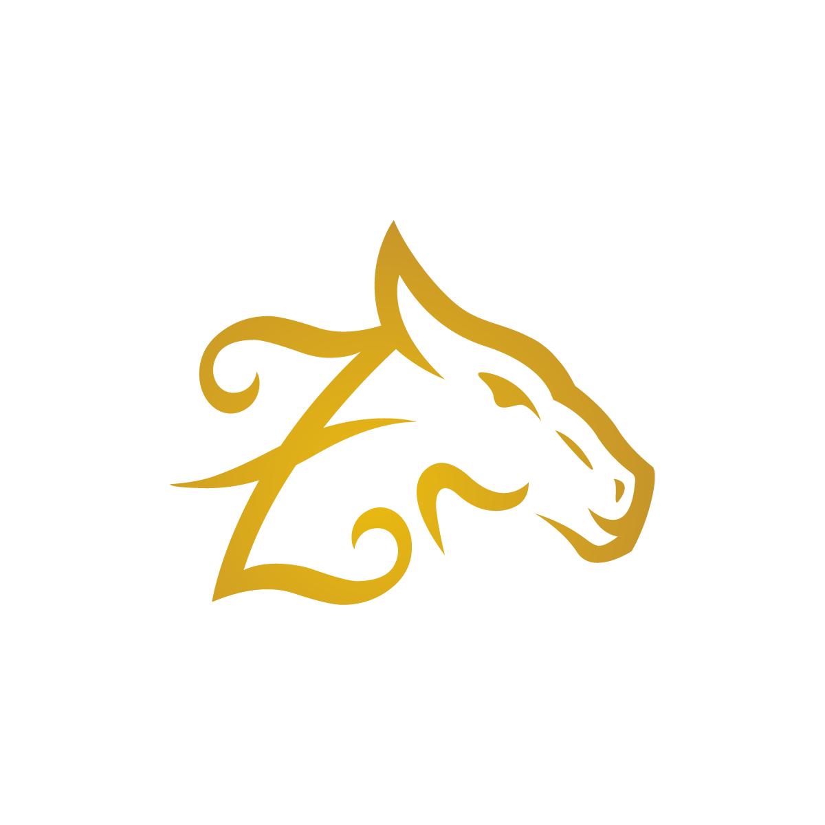 Letter Z Horse Logo