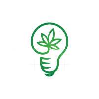 Light Bulb Cannabis Logo
