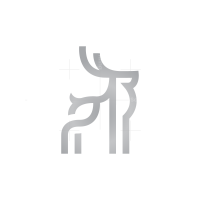 Line Silver Deer Logo