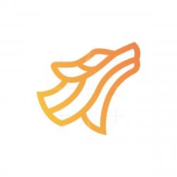 Line Wolf Head Logo