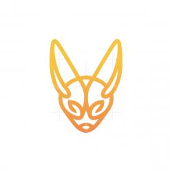 Long Ears Fox Head Logo