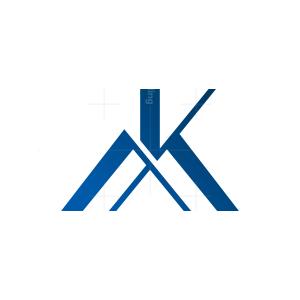 Mk Monogram Logo Mk Km Logo