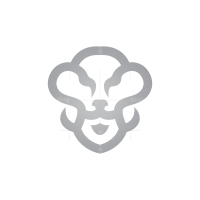 SIlver Lion Head Logo