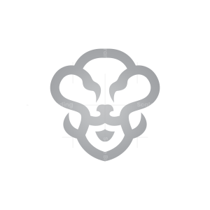 SIlver Lion Head Logo