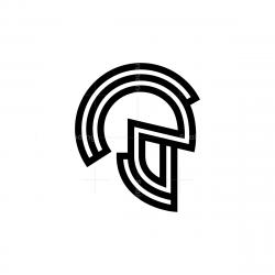 Offset Spartan Helmet Logo