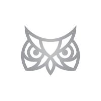 Silver Owl Head Logo