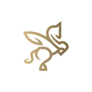 Beautiful Pegasus Logo Pegasus Logo