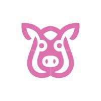 Pig Head Logo Pig Logo