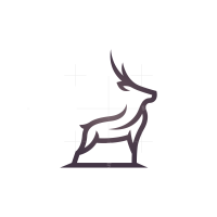 Purple Deer Logo Stag Logo