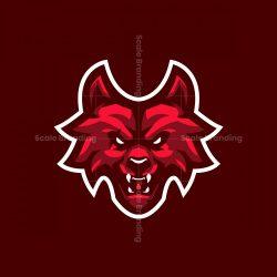 Red Wolf Mascot Logo