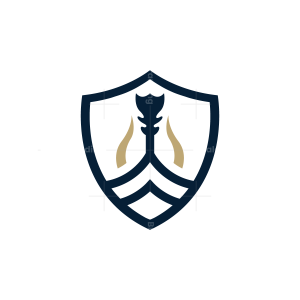 Shield Viking Ship Logo